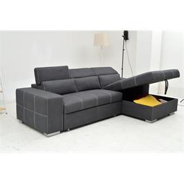 ספה פינתית מפוארת נפתחת למיטה עם ארגז מצעים מבית VITORIO DIVANI דגם פרפקטה