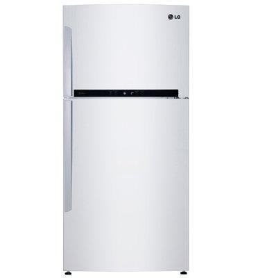 מקרר עם מקפיא עליון בנפח 515 ליטר בגימור לבן תוצרת LG דגם GRM6781W