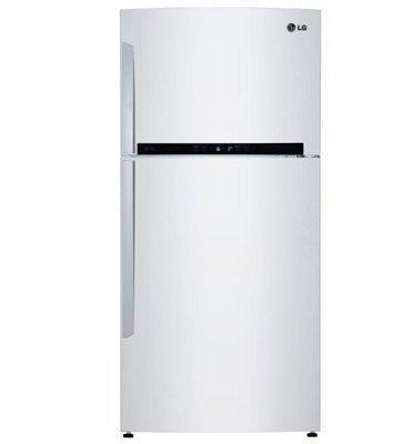 מקרר עם מקפיא עליון בנפח 596 ליטר מדחס אינוורטר צבע לבן תוצרת LG דגם GRM6981W