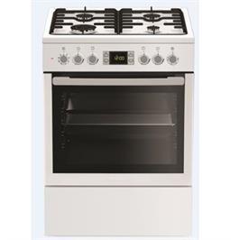 תנור אפיה משולב כיריים תא אפייה ענק 65 ליטר תוצרת Blomberg דגם HGN8333 - צבע לבן