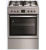 תנור אפיה משולב כיריים תא אפייה ענק 65 ליטר גימור נירוסטה תוצרת Blomberg דגם HGN8433X
