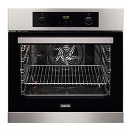תנור בנוי פירוליטי רב-תכליתי עם גוף חימום טבעתי צבע נירוסטה תוצרת ZANUSSI דגם ZOP37972K