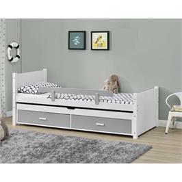מיטת ילדים מעץ מלא עם מיטת חבר נשלפת מסדרת VERY WOOD של HOME DECOR דגם ליאור