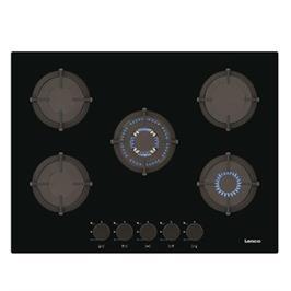 """כיריים גז זכוכית 70ס""""מ 5 מבערי גז מבית Lenco דגם LGH-7508BK"""
